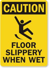 Slip and fall accident attorney illustration